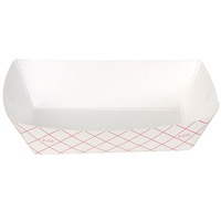 TRAY PAPER FOOD PLAID #40 6 OZ 250CT