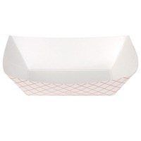 TRAY PAPER FOOD PLAID 1# #100 250CT
