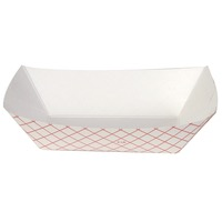 TRAY PAPER FOOD PLAID 2# #200 250CT