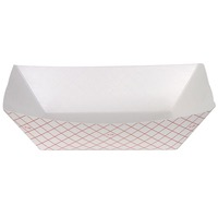 TRAY PAPER FOOD PLAID 3# #300 250CT