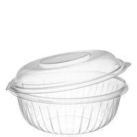 BOWL PLASTIC CLEAR HINGED DOME 32 OZ 75 CT