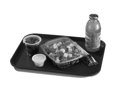 TRAY FAST FOOD PLASTIC BROWN 14X18