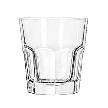 GLASS ROCKS 10 OZ CAPACITY GIBRALTER 3 DOZ./CASE