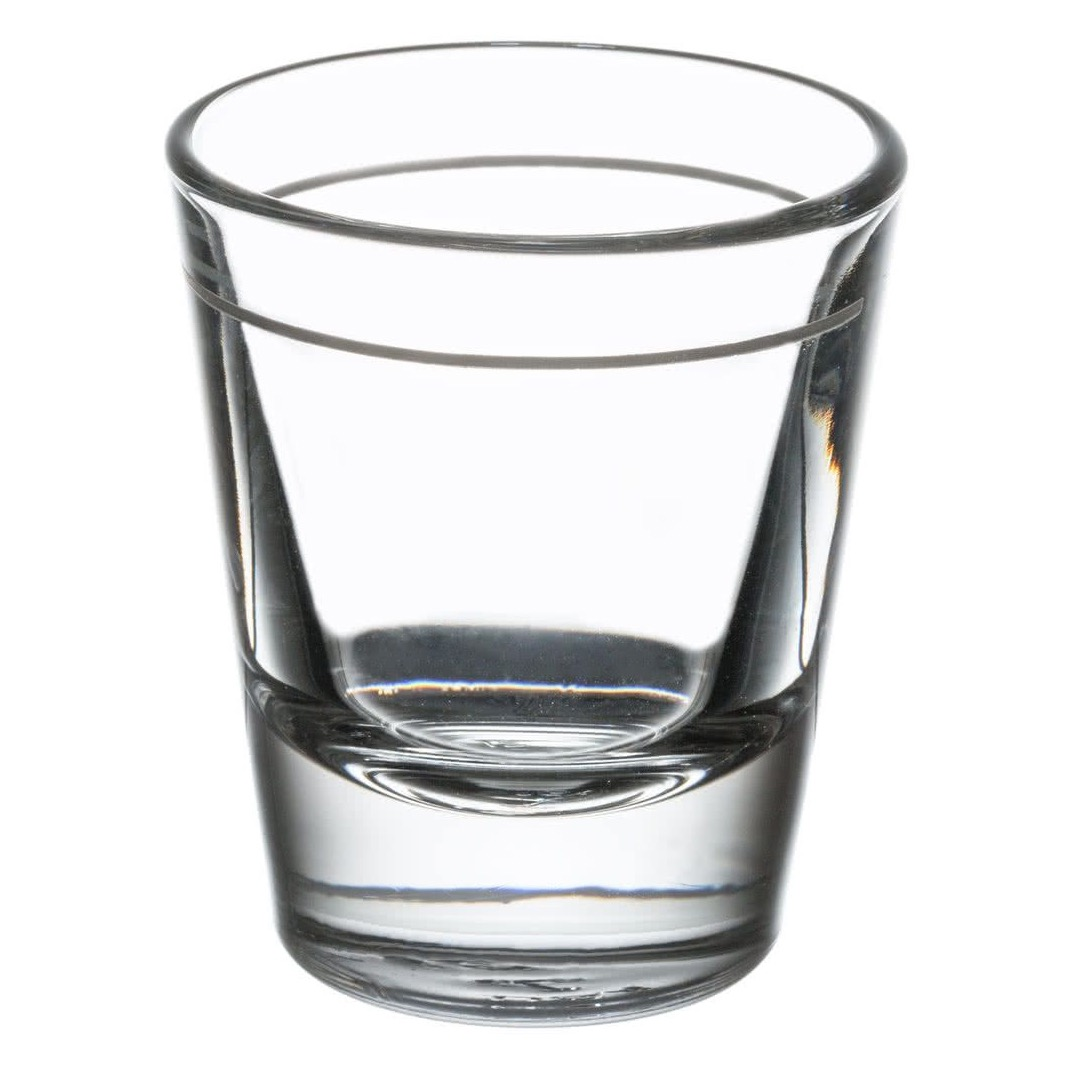 SHOT GLASS LINED 1.5 OZ W/1 OZ LINE 6 DOZ./CASE