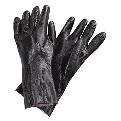 GLOVES POT WASH BLACK 18 W COTTON INTERLOCK INTERIOR