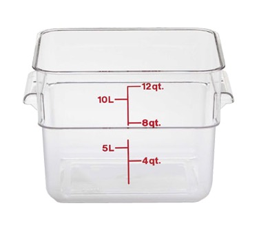 CAMSQUARE CONTAINER CLEAR W/HANDLES 12 QT