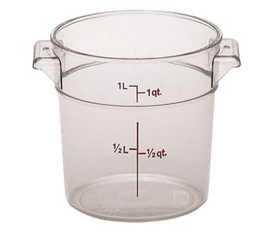 STORAGE CONTAINER 1 QT ROUND CLEAR