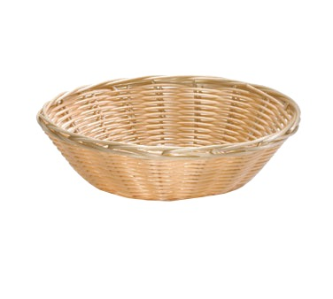 BASKET ROUND POLY CORD(WICKER TYPE) 2-1/2X8-1/2