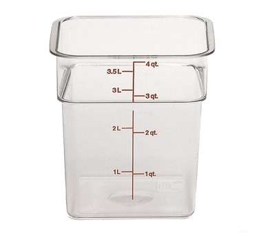 CAMSQUARE CONTAINER 4 QT CLEAR