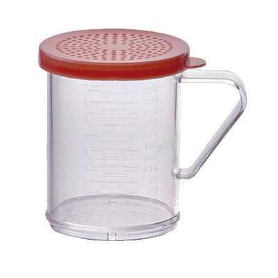 SHAKER/DREDGE 10oz W/ ROSE (LARGE) LID