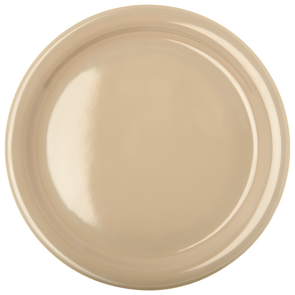 PLATE DINNER 9 KINGLINE NARROW RIM MELAMINE TAN