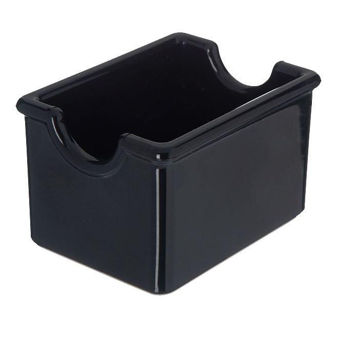 SUGAR PACKET CADDY PLASTIC BLACK HOLDS 20 PACKETS