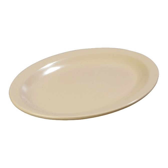PLATTER 12X9 OVAL KINGLINE NARROW RIM TAN