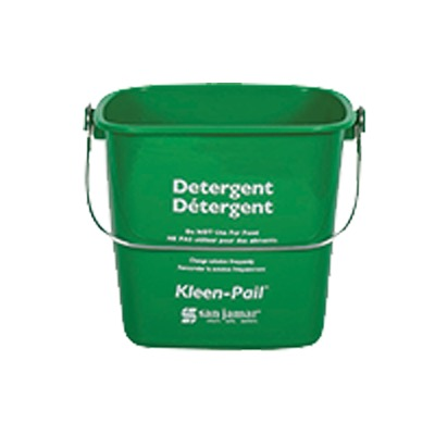 PAIL 3 QT GREEN PLASTIC FOR SOAP SOLUTION W/HANDLE