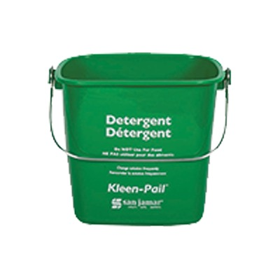 PAIL 6 QT GREEN PLASTIC FOR SOAP SOLUTION W/HANDLE