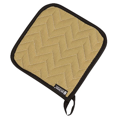 POT HOLDER 7x7 NON-STICK QUILTED TEFLON TAN