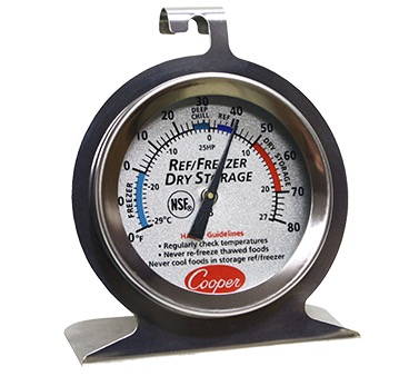 THERMOMETER REF/FREEZ/DRY STORAGE COLORED 2DIAL