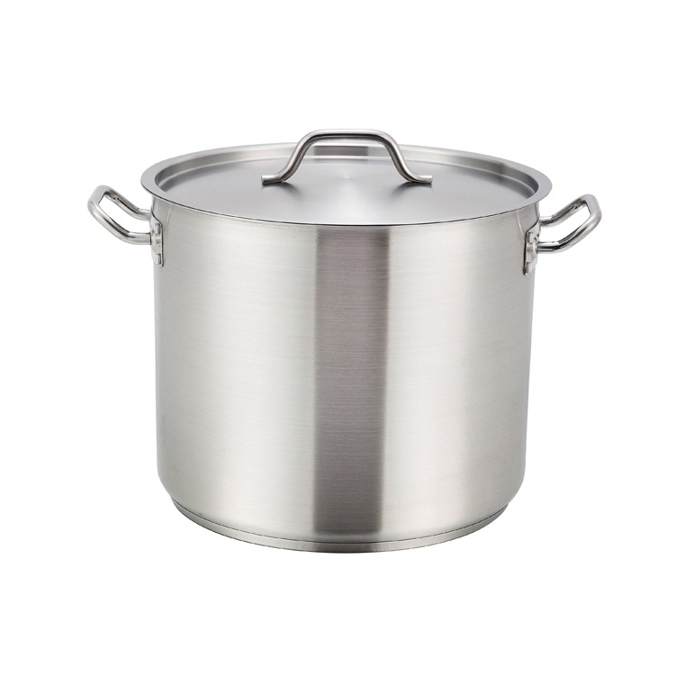 STOCKPOT 40 QT INDUCT S/S W/COV 15-3/4DX11-3/4H