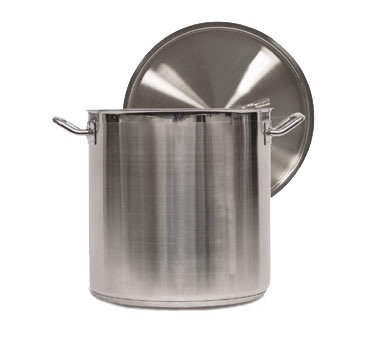 STOCK POT W/CVR 18/10 S/S ALUM CLAD 11 QT(INDUCTION)