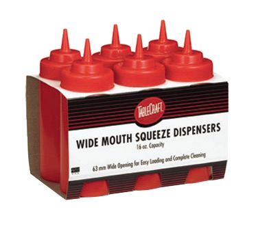SQUEEZE BOTTLE WIDE MOUTH 12OZ KETCHUP (6PK)