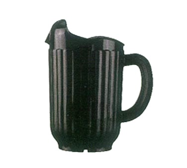 PITCHER BLACK 60 OZ W/LIP