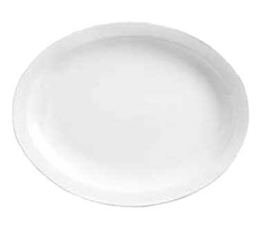 PLATTER 9-3/4x7-3/8 NR BRIGHT WHITE PORCELAIN 24/CS