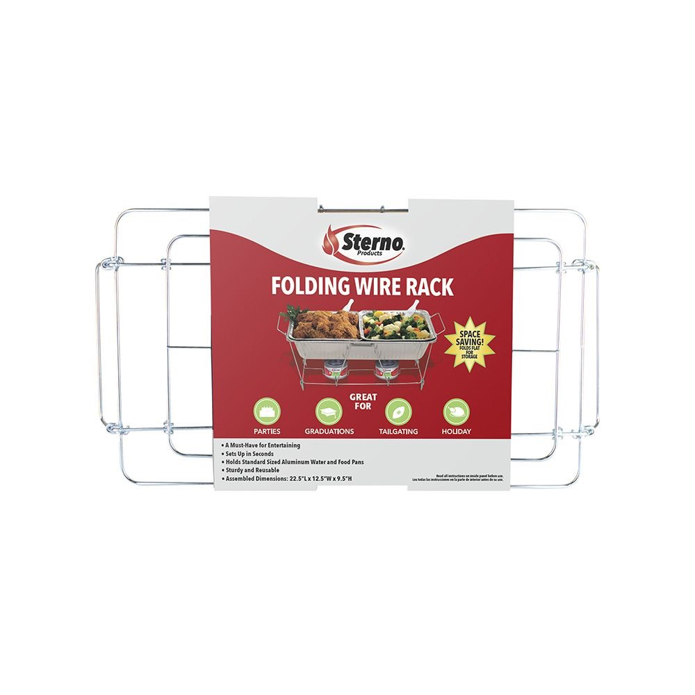 STERNO RACK POP-UP WIRE CHAFING REUSABLE 22.75x1.50x12.13