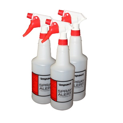 SPRAY BOTTLE PLASTIC TRIGGER RED 24OZ (3PACK)