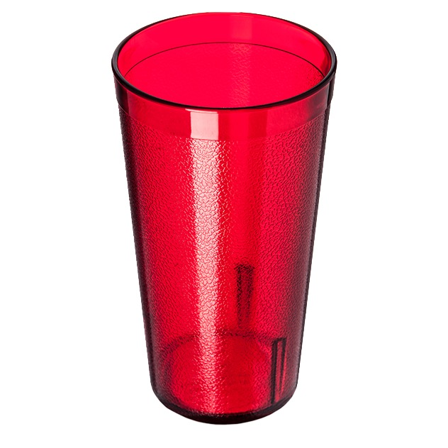 TUMBLER 16 OZ PEBBLED RUBY PLASTIC 1 DZ