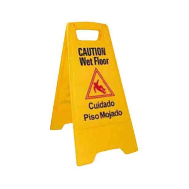 WINCO WET FLOOR SIGN 12x25H YELLOW