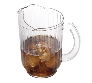 PITCHER 60 OZ CLEAR POLYCARBONATE W/ICE LIP