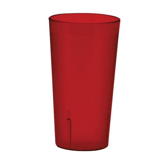 TUMBLER 16oz RED PEBBLED