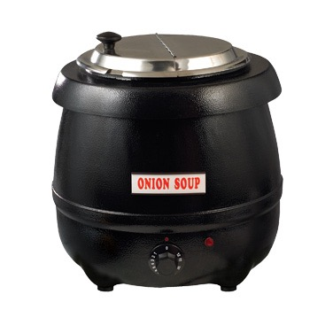 WINCO SOUP WARMER 10-1/2qt ADJ. HEAT BLACK 120V