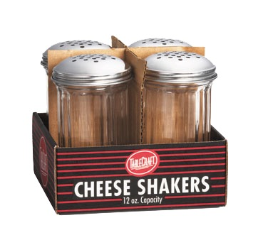 SHAKER CHEESE 12oz. PER. TOP FLUTED GLASS(4/4PK)