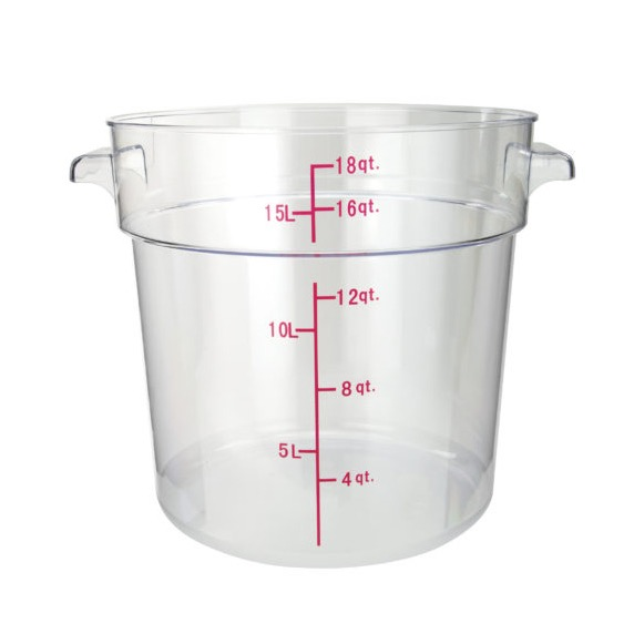 STORAGE CONTAINER RD 18 QT CLEAR