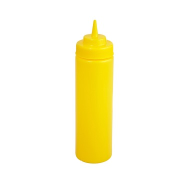 SQUEEZE BOTTLE 24oz YELLOW WIDEMOUTH 6/PACK