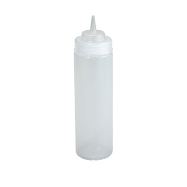 SQUEEZE BOTTLE 24oz WIDEMOUTH 6/PACK