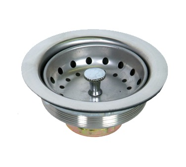 BASKET DRAIN 3-1/2 W/ CRUMB CUP S/S