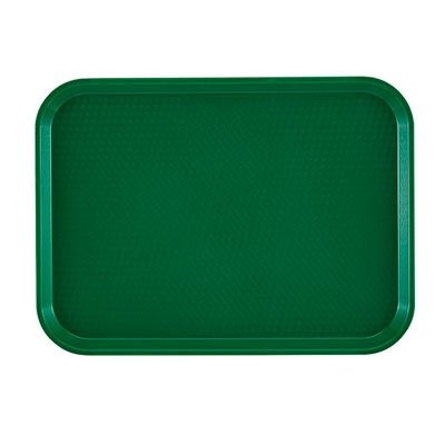 TRAY FAST FOOD PLASTIC SHERWOOD GREEN 12X16