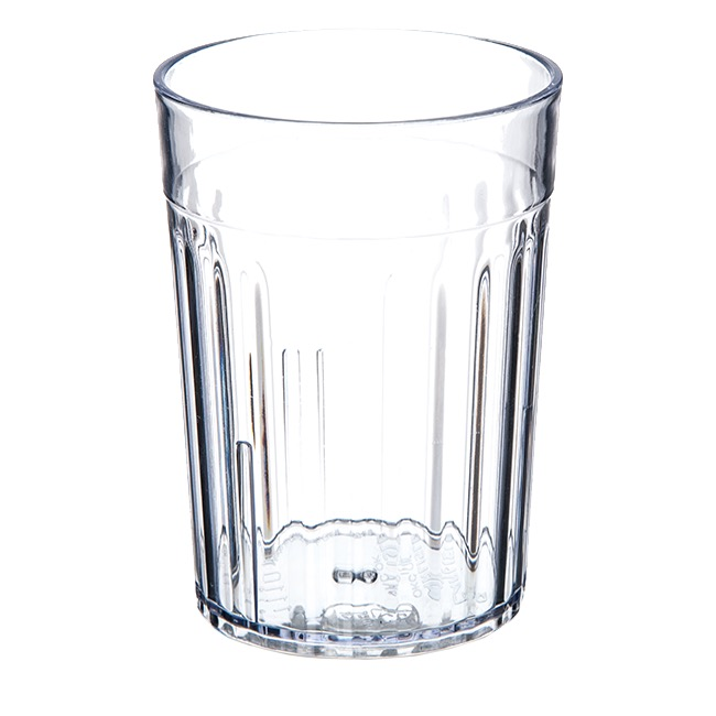TUMBLER 10 OZ FLUTED CLEAR