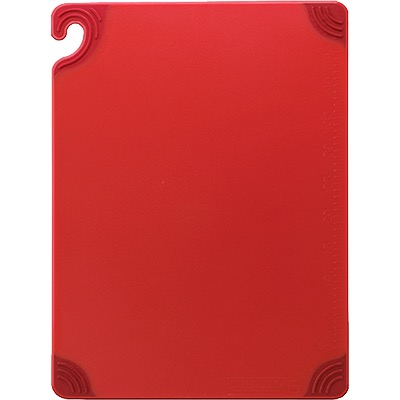 CUTTING BOARD 12X18 SAFE-T-GRIP RED