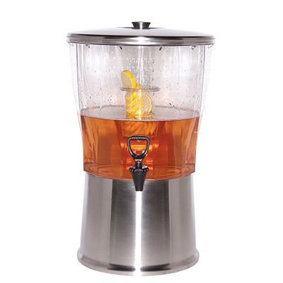 BEVERAGE DISPENSER 5 GAL. RMVBL. INFUSER S/S LID & BASE