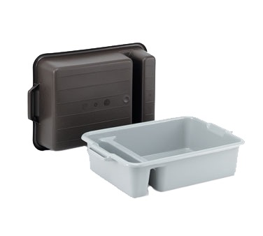 DISH BOX 2-COMP(SILVERWARE)17-1/2X23X 6 GRAY