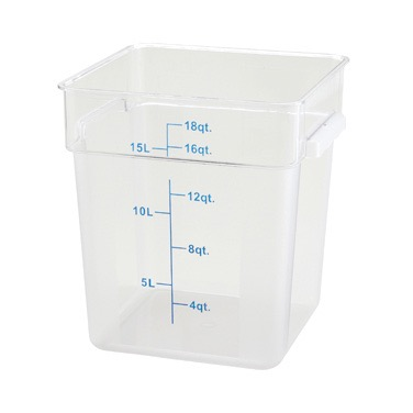 STORAGE CONTAINER SQUARE 18 QT CLEAR