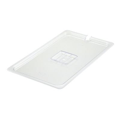 COVER PAN FULL SLOTTED W/ HANDLE POLYCARBONATE