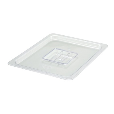COVER PAN 1/2 SOLID W/HANDLE CLEAR