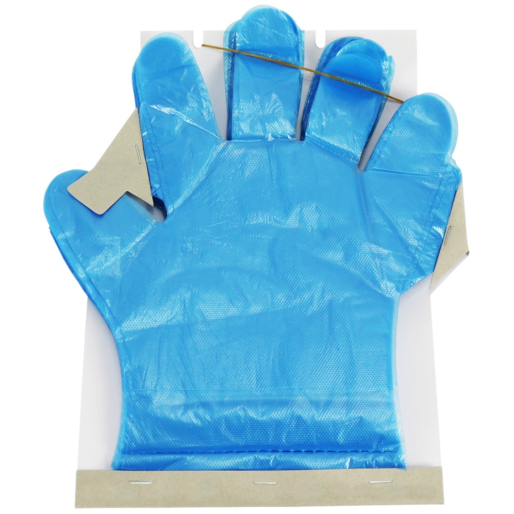 Aeroglove Gloves CLEAR Plstc biodegradable (8 stacks of 150 = 1200 total gloves)