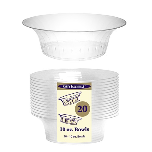 BOWL 10OZ. DELUXE CLEAR 20/PK
