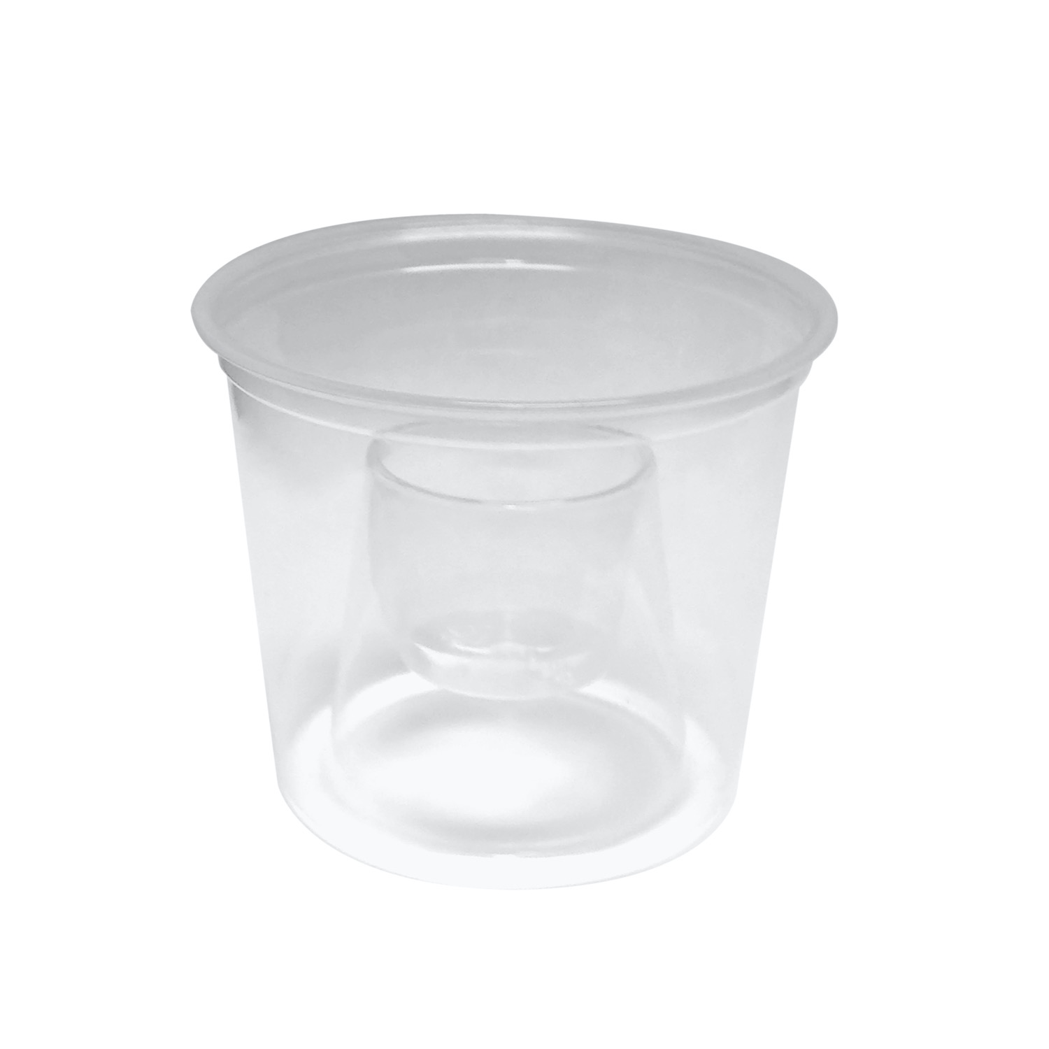 CUPS BOMBER CLEAR SOFT 50/PK