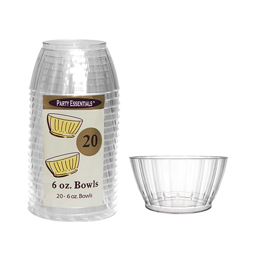 BOWL 6OZ. DELUXE CLEAR 20/PK